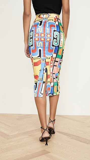 Stella Jean Stampa Maya Skirt