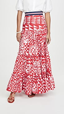 Popeline Bicolore Skirt