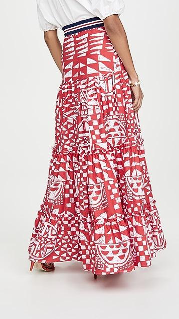 Stella Jean Двухцветная юбка Popeline