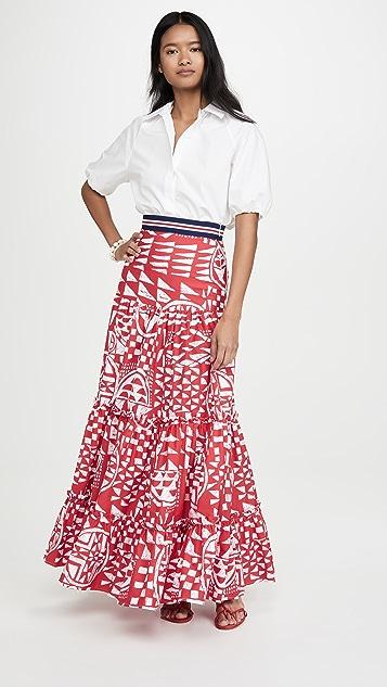 Stella Jean Popeline Bicolore 半身裙