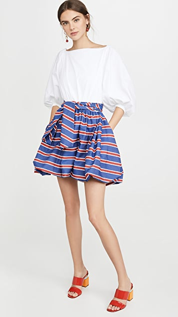 Stella Jean Mini Dress With Striped Skirt