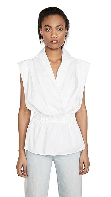 Stella Jean Блуза без рукавов с V-образным вырезом