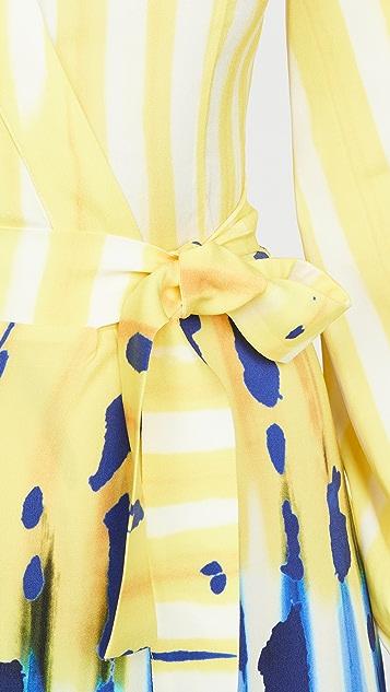 Stella Jean 印花裹身连衣裙