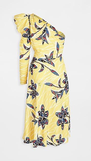 Stella Jean One Shoulder Dress