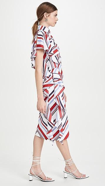 Stella Jean Abito Popeline Riga Dress