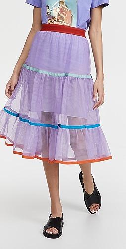 Stella Jean - Tulle Frill Skirt
