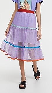 Stella Jean 薄纱流苏半身裙