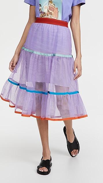 Stella Jean Tulle Frill Skirt