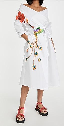 Stella Jean - Chemisier Dress with Colibri Print