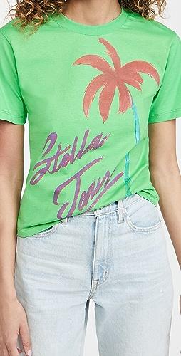 Stella Jean - Slim T-Shirt with Palm Graphic