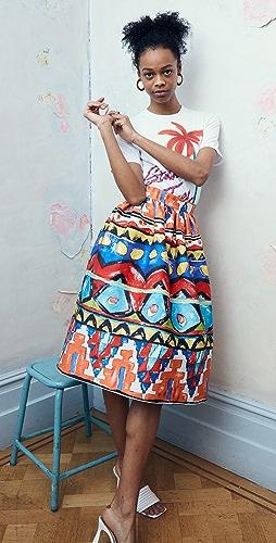 Stella Jean - Popeline Skirt with Habiba Print