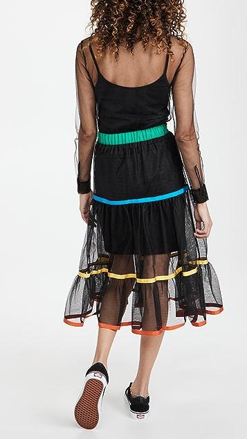 Stella Jean 轻薄薄纱连衣裙