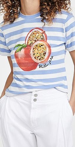 Stella Jean - Slim T-Shirt with Pomegranate Print