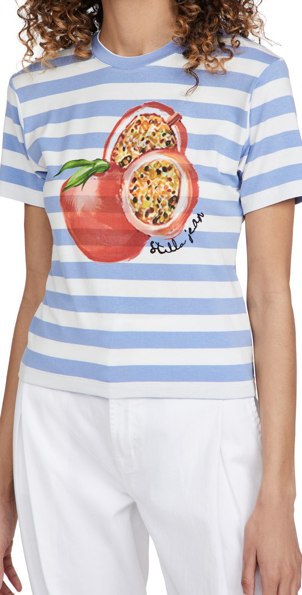 Stella Jean Slim T-Shirt with Pomegranate Print
