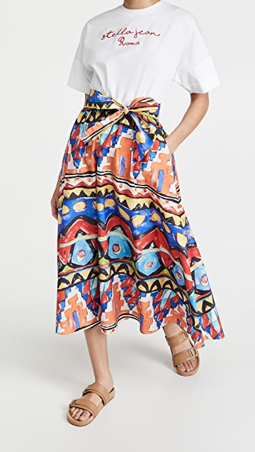 Stella Jean 混合材质 T 恤连衣裙