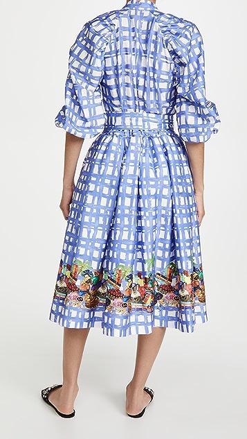 Stella Jean 格子连衣裙