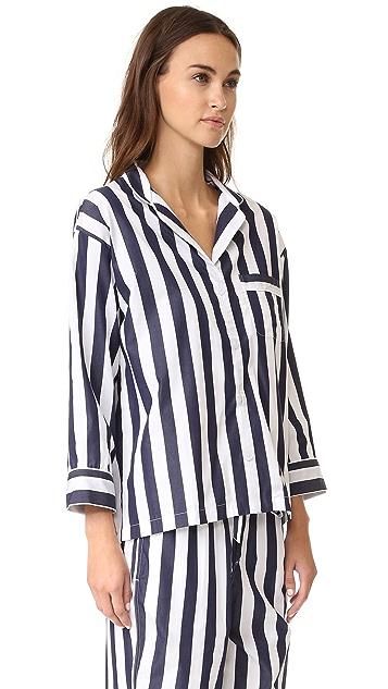 Sleepy Jones Tent Stripe Marina Pajama Shirt