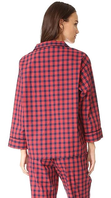 Sleepy Jones Washed Plaid Marina Pajama Shirt