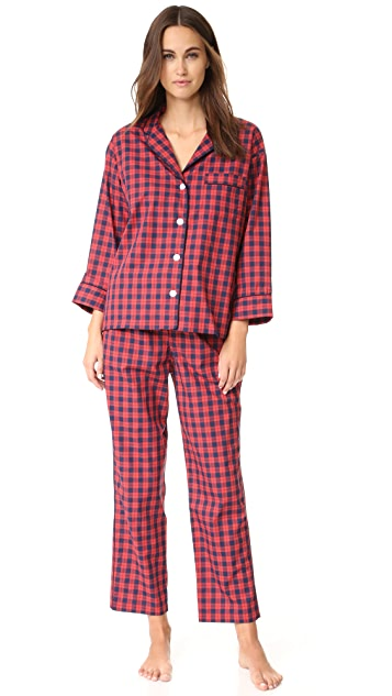 Sleepy Jones Washed Plaid Marina Pajama Pants