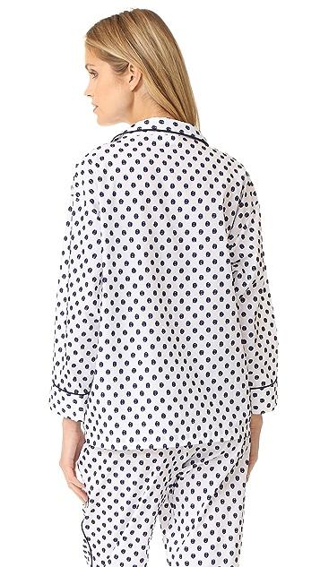 Sleepy Jones Dot Marina Pajama Shirt