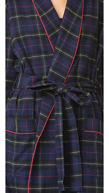 Sleepy Jones Plaid Isa Robe