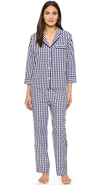 Sleepy Jones Gingham Marina Pajama Shirt