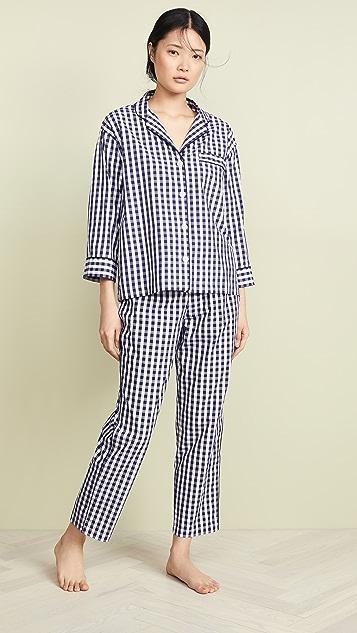 Sleepy Jones Пижамная рубашка Marina в клетку гингем