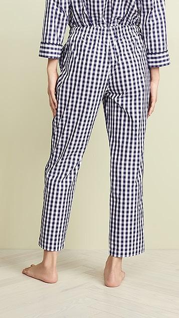 Sleepy Jones Пижамные брюки Marina в клетку гингем