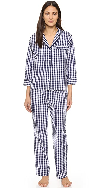 Sleepy Jones Gingham Marina Pajama Pants