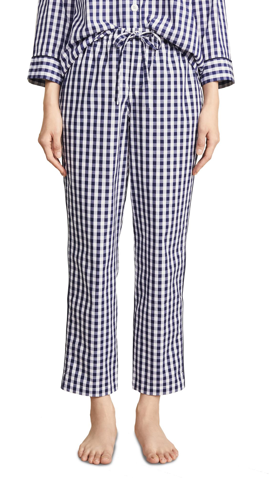 Sleepy Jones Gingham Marina Pajama Pants