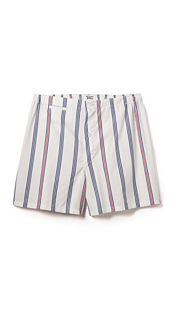 Sleepy Jones Jasper Regimental Stripe Boxer Shorts