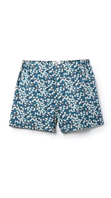 Sleepy Jones Jasper Liberty Misti Nightflowers Print Boxer Shorts