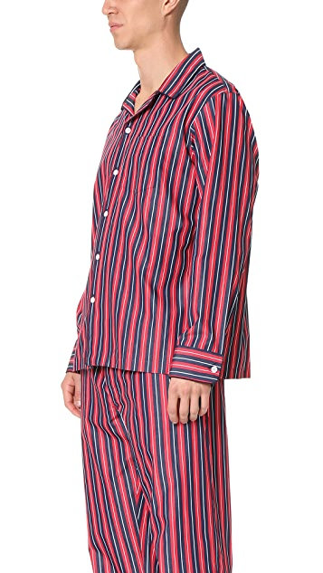 Sleepy Jones Henry University Stripe Pajama Shirt
