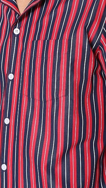Sleepy Jones Henry University Stripe Pajama Shirt