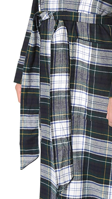 Sleepy Jones Glenn Flannel Stewart Plaid Robe
