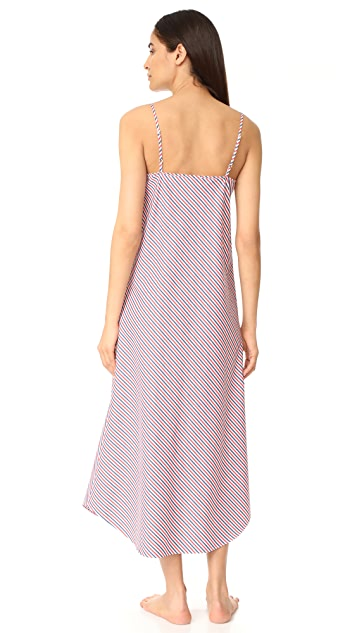 Sleepy Jones Thin Multistripe Ginger Slip Dress
