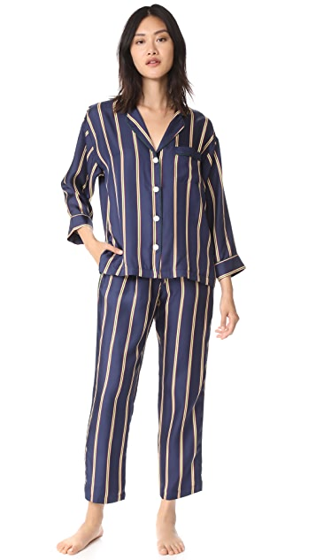 Sleepy Jones Silk Marina Pajama Pants