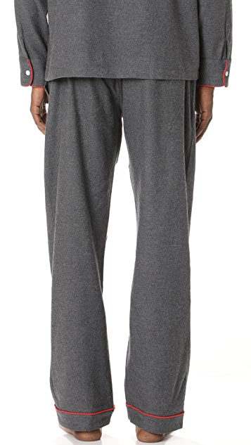 Sleepy Jones Solid Flannel Pajama Pants