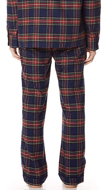 Sleepy Jones Stewart Flannel Pajama Pants
