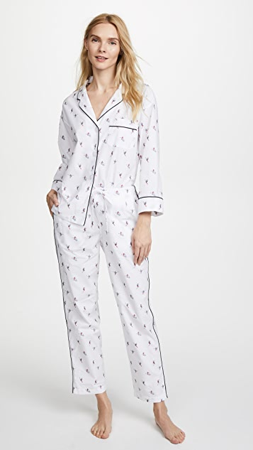 Sleepy Jones Marina Ski Print Pajama Shirt