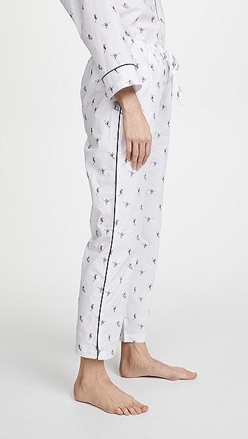 Sleepy Jones Marina Ski Print Pajama Pants