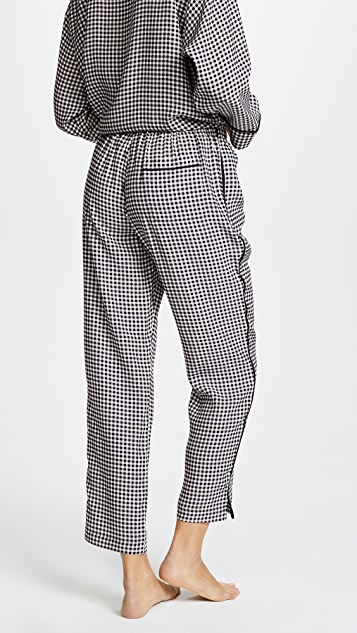 Sleepy Jones Silk Marina Gingham Pajama Pants