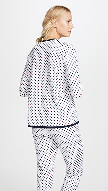Sleepy Jones Brigitte Polka Dot Lounge Shirt