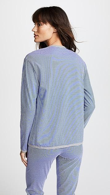 Sleepy Jones Brigitte Mini Stripe Lounge Shirt