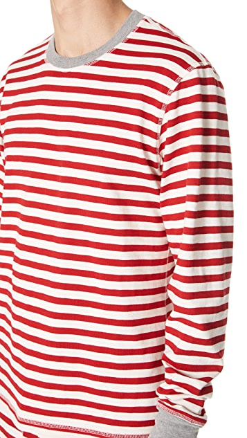 Sleepy Jones Stripe Long Sleeve Pajama Top