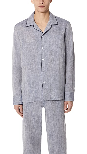 Sleepy Jones Linen PJ Top