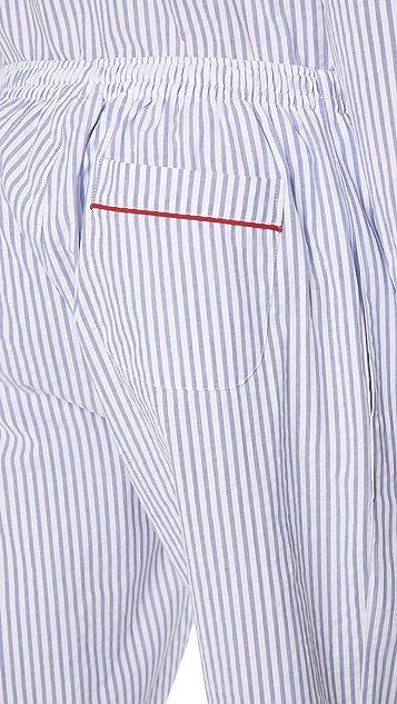 Sleepy Jones Seersucker Striped PJ Bottoms