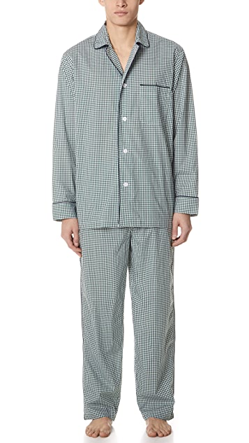 Sleepy Jones Gingham PJ Set