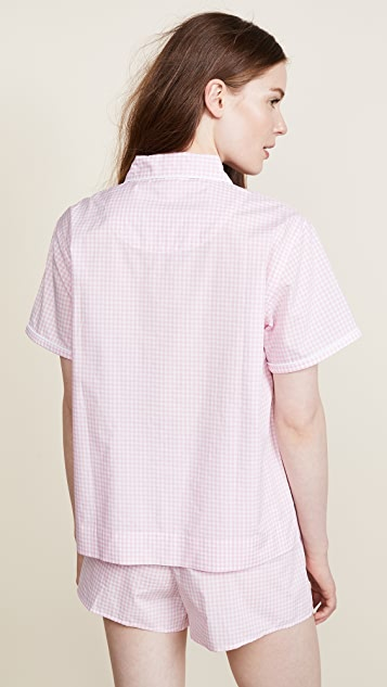 Sleepy Jones Small Gingham Corita Shirt
