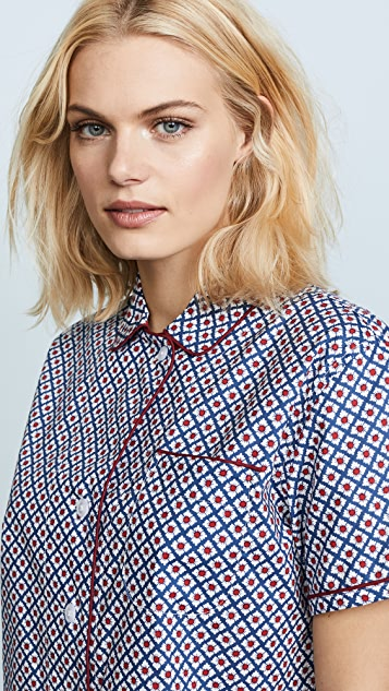 Sleepy Jones Woodblock Foulard Print Corita Shirt